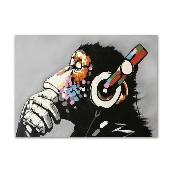 Monkey Headphone - Wallencia Home Decor