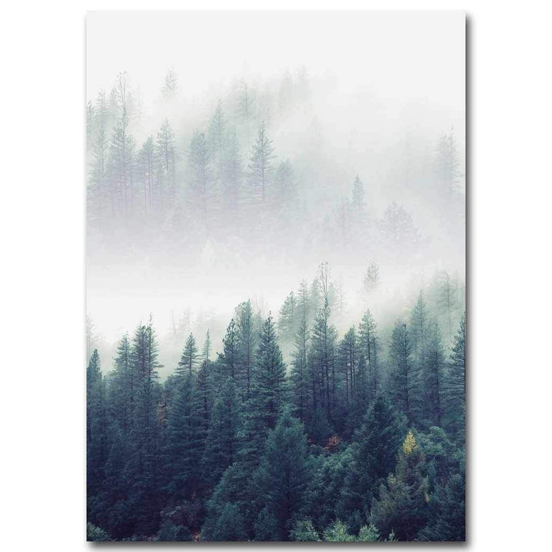 Foggy Forest - Wallencia Home Decor