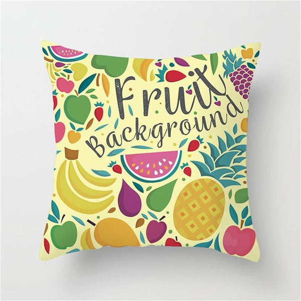 Fruit Background - Pillow Case - Wallencia Home Decor