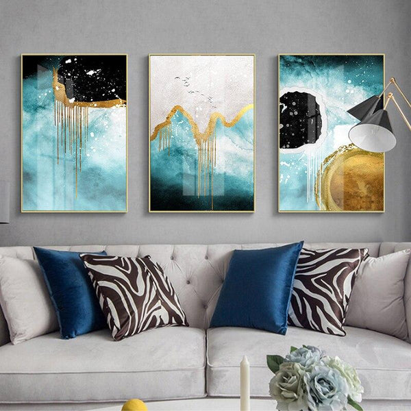 Blue Dimension - Wallencia Home Decor