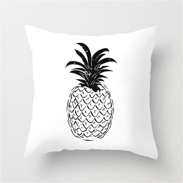 Black & White Pineapple - Pillow Case - Wallencia Home Decor