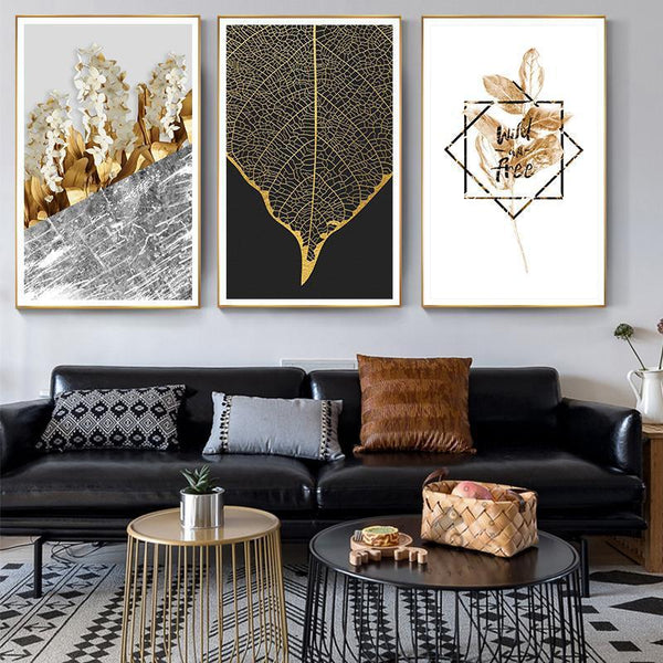 Golden Leaf - Wallencia Home Decor