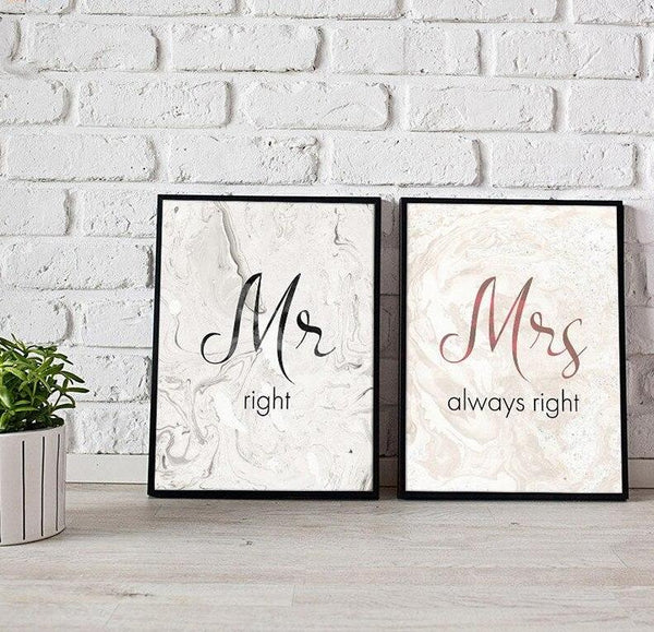 Mrs & Mr Marble - Wallencia Home Decor