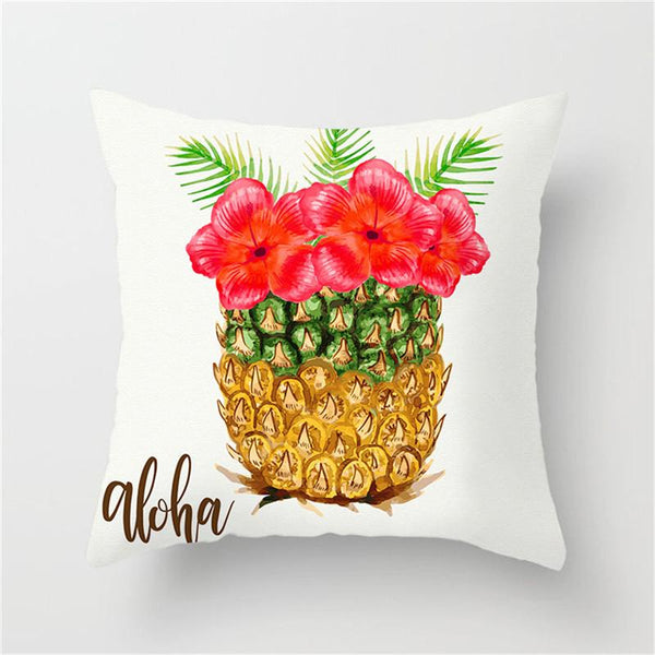 Pineapple With Flower - Pillow Case - Wallencia Home Decor