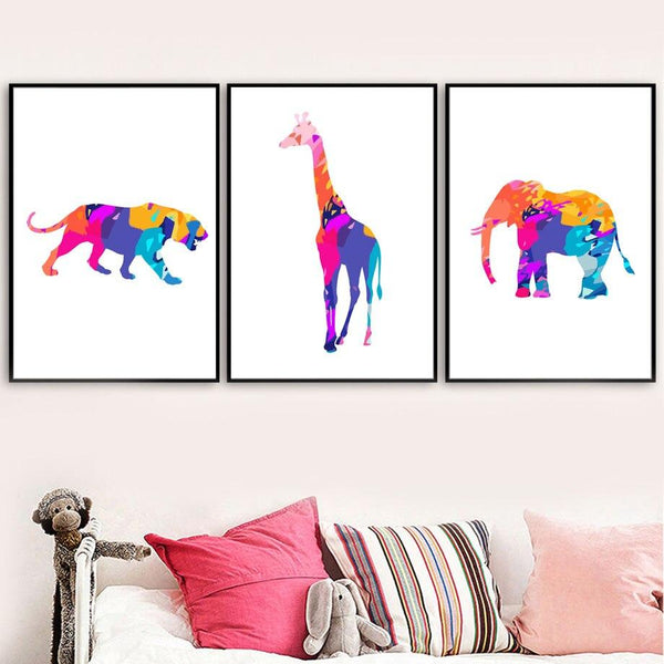 Colorful Animals - Wallencia Home Decor
