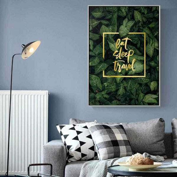 Eat - Sleep - Travel Art Work - Wallencia Home Decor