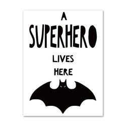 A Superhero lives here - Wallencia Home Decor
