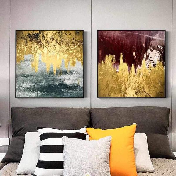 Golden flow - Square - Wallencia Home Decor