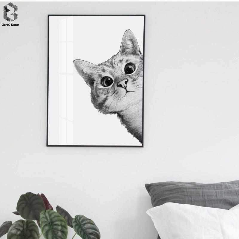 Woodland Lovely Cats Posters and Prints Wall Art Canvas Painting Nursery Animal Picture For Living Room Scandinavian Home Decor - Wallencia Home Decor
