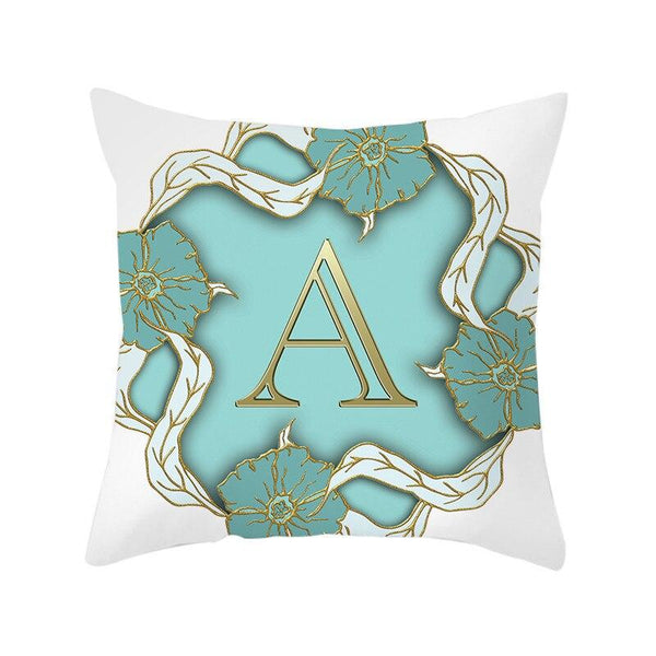 Golden Letter - Pillow Case - Wallencia Home Decor