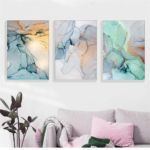 Abstract Green Storm - Wallencia Home Decor