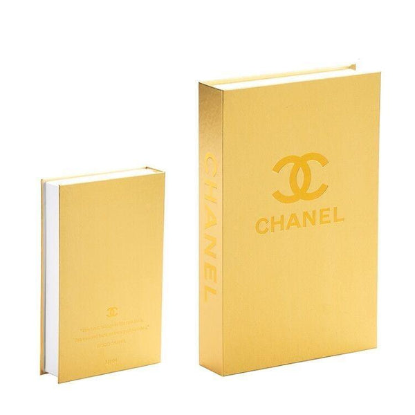 Decorative Storage Book - Chanel Gold Edition Wallencia