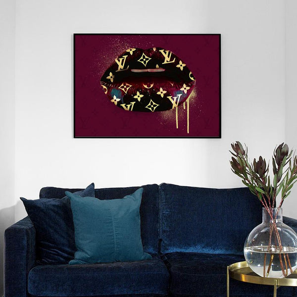 Louis Vuitton Lips Bordeaux Wallencia