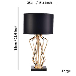 Meduza Table Lamp Black - Wallencia Home Decor
