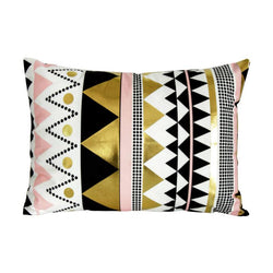 Gold Zag Wide - Pillow Case - Wallencia Home Decor