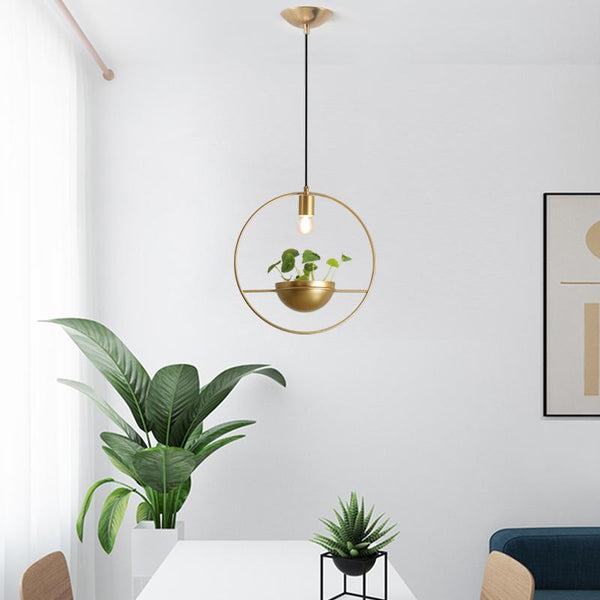 Eram - Hanging Plant Lamp - Wallencia Home Decor