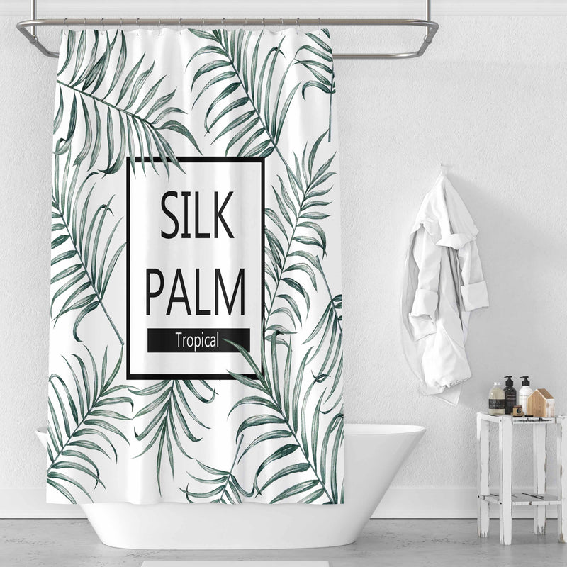 Silk Palm - Shower Curtain - Wallencia Home Decor