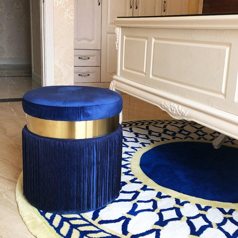 Haoma™ Velvet Stool - Royal Blue - Wallencia Home Decor