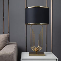 Troya Table Lamp - Black - Wallencia Home Decor