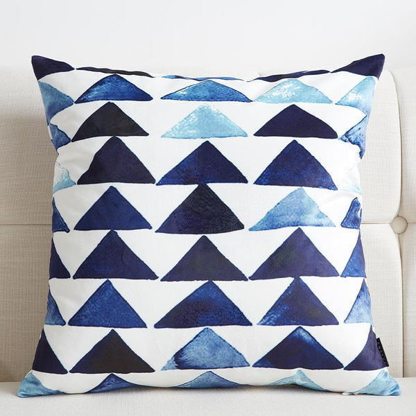 Blue Triangle - Pillow Case - Wallencia Home Decor