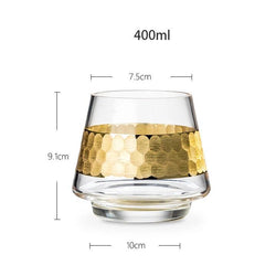 Honeycomb Glass Set - Gold - Wallencia Home Decor