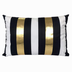 Black White Gold Wide - Pillow Case - Wallencia Home Decor