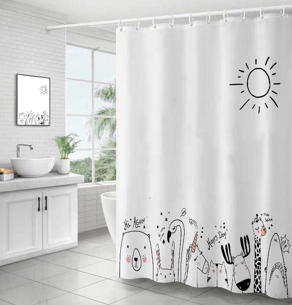 Animal World - Shower Curtain - Wallencia Home Decor