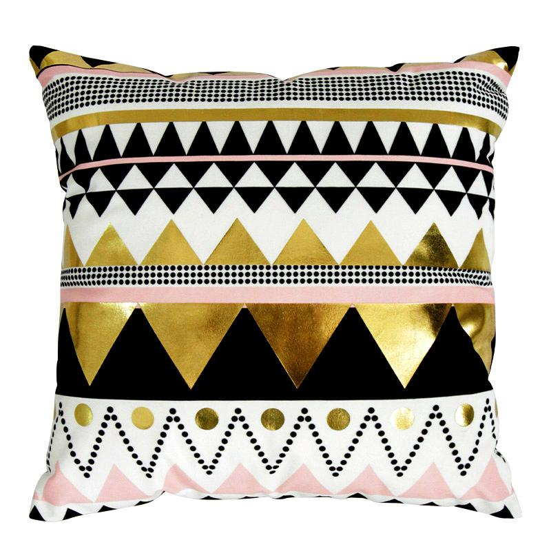 Gold Zag - Pillow Case - Wallencia Home Decor