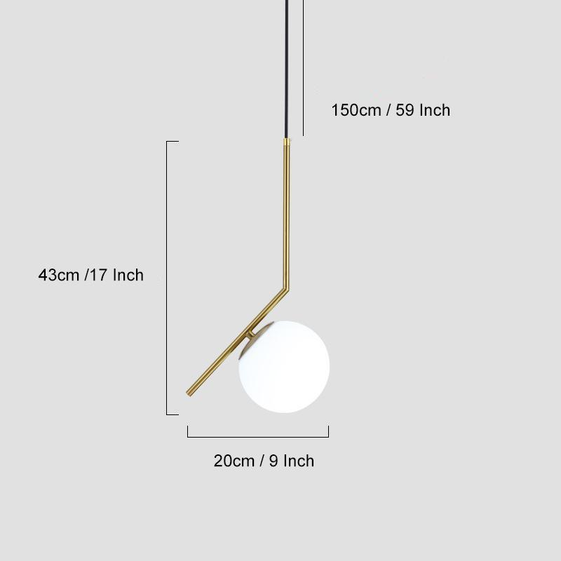 Luxury Modern Light Wallencia Right Ball