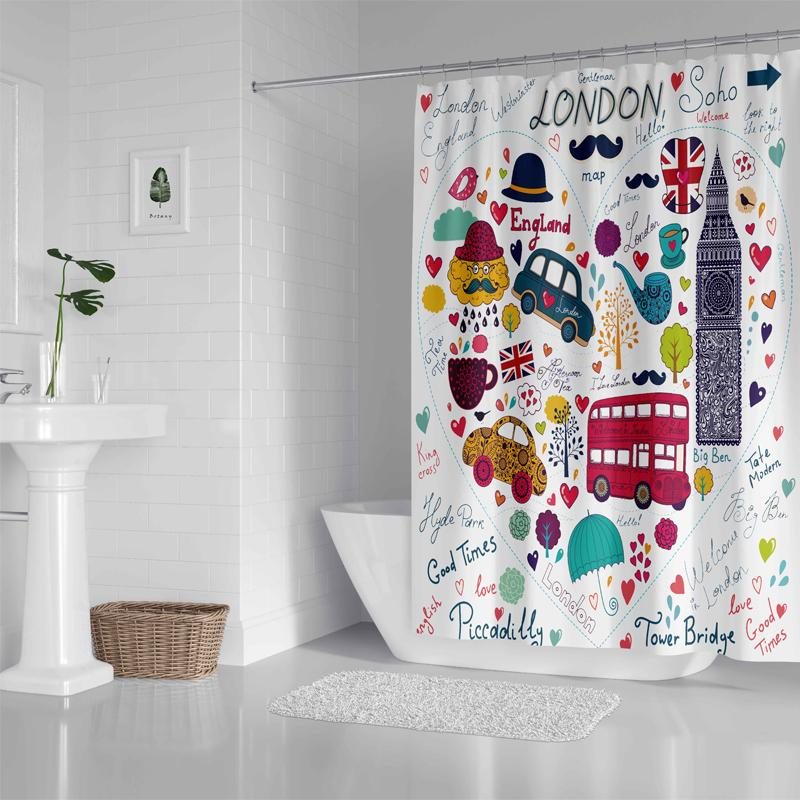 London - Shower Curtain - Wallencia Home Decor