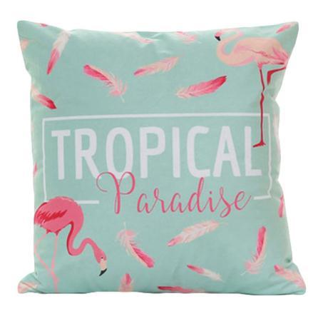 Flamingo Tropical Paradise - Pillow Case - Wallencia Home Decor