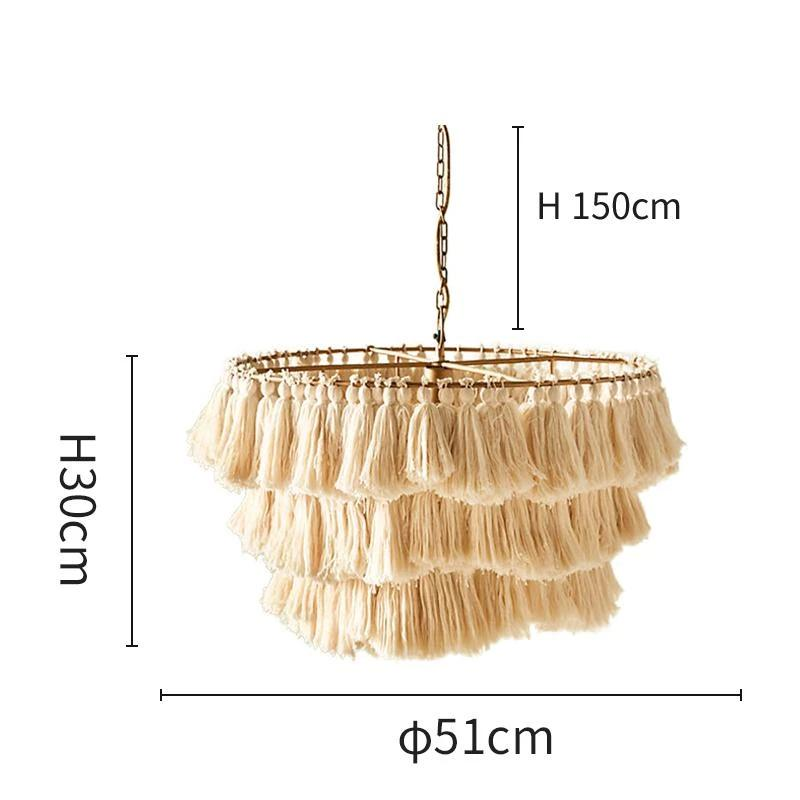 Macrame - Boho Bohemian Pendant Lamp - Wallencia Home Decor