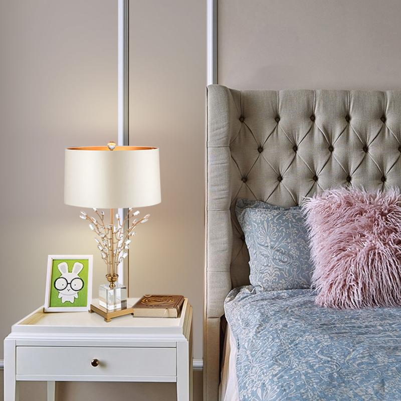 Crystal Table Lamp White - Wallencia Home Decor