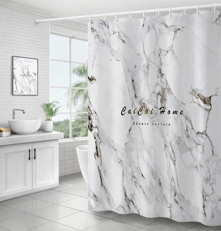 Marble Pattern - Shower Curtain - Wallencia Home Decor