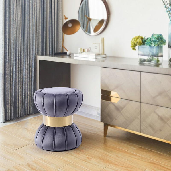 Juno™ Velvet Stool - Violet - Wallencia Home Decor