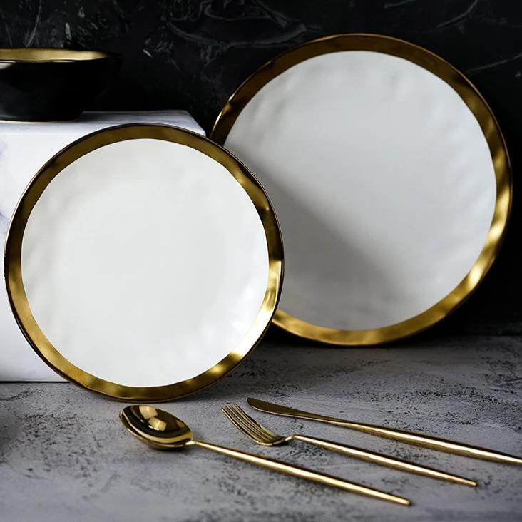 Pearl White Plate - Wallencia Home Decor