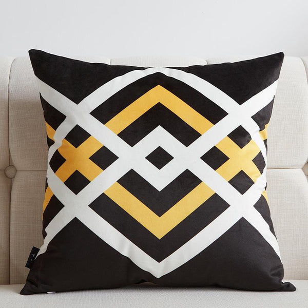 Black and Yellow - Pillow Case - Wallencia Home Decor