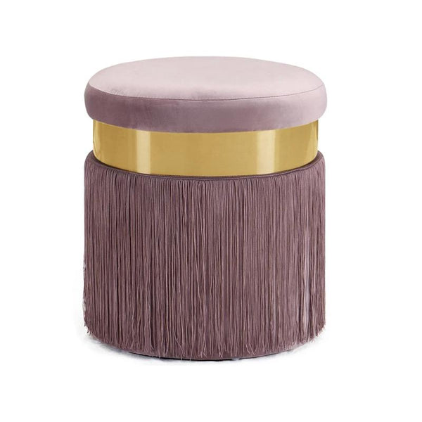 Haoma™ Velvet Stool - Lilac - Wallencia Home Decor