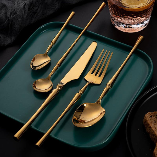 Arya Gold Flatware - Wallencia Home Decor