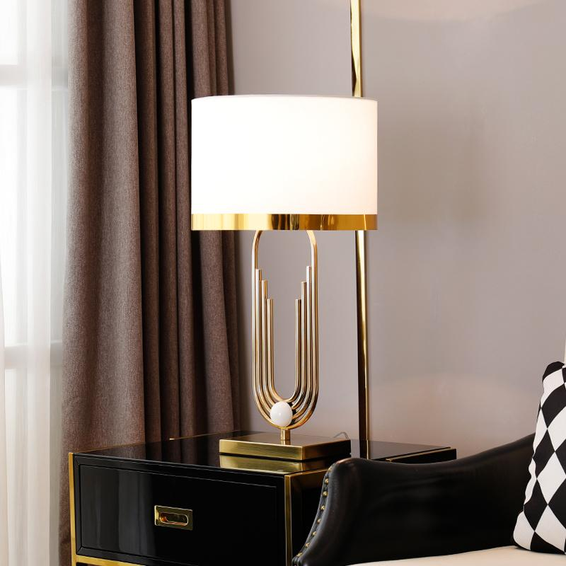 Taurus Table Lamp - White - Wallencia Home Decor