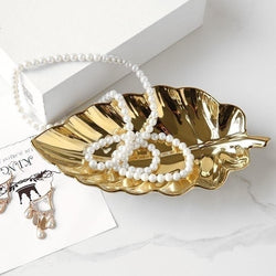 Leaf Tray Set - Gold - Wallencia Home Decor