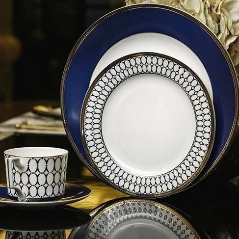 Renaissance Blue & Gold Tableware Set - Wallencia Home Decor