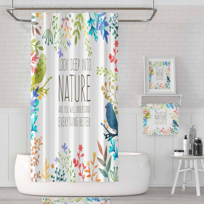 Look Deep Into Nature - Shower Curtain - Wallencia Home Decor