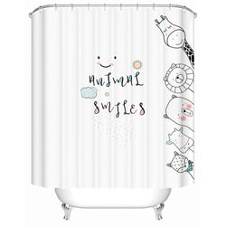 Animal Smiles - Shower Cutrain - Wallencia Home Decor
