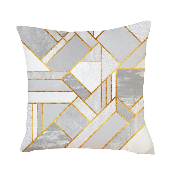 Gold and Grey Marbled - Pillow Case - Wallencia Home Decor