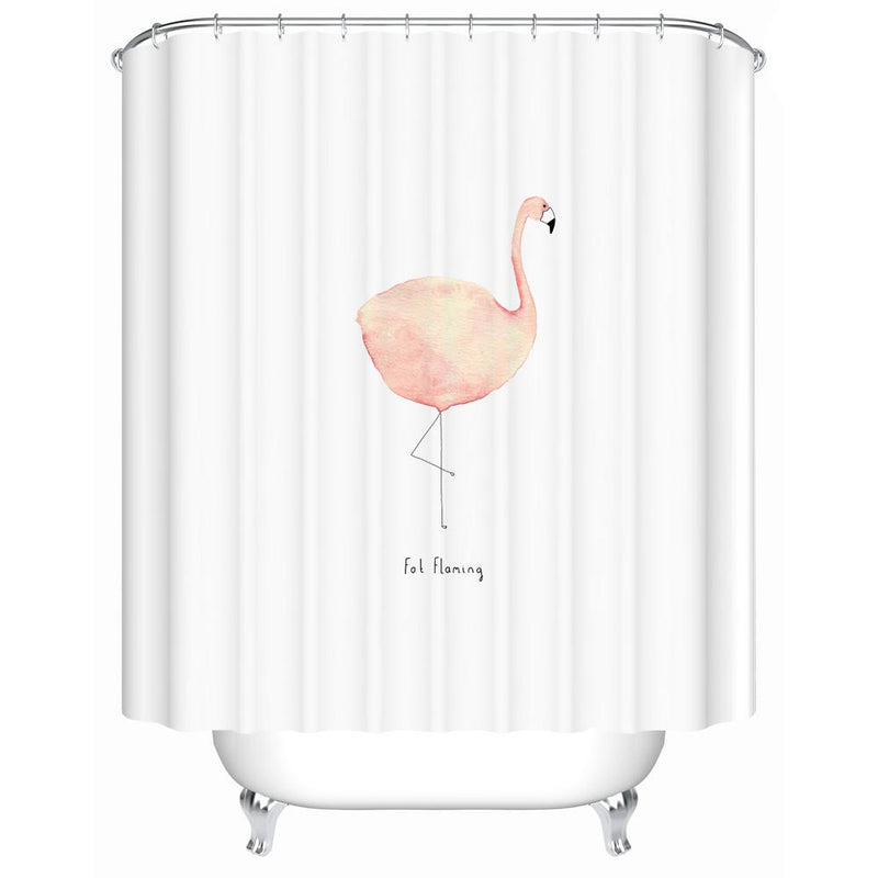 Fat Flamingo - Shower Curtain - Wallencia Home Decor