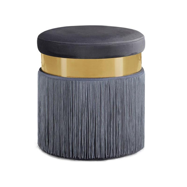Haoma™ Velvet Stool - Sandstone - Wallencia Home Decor