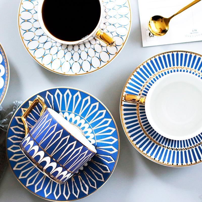 Blue and Rose Tea Set - Wallencia Home Decor