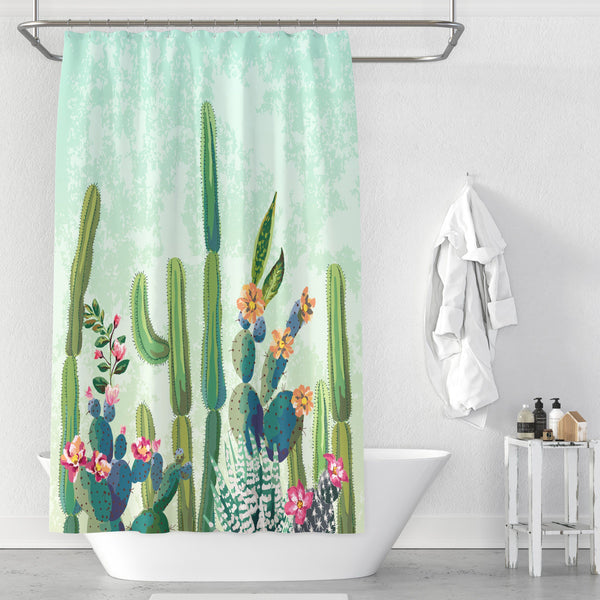 Cactus - Shower Curtain - Wallencia Home Decor