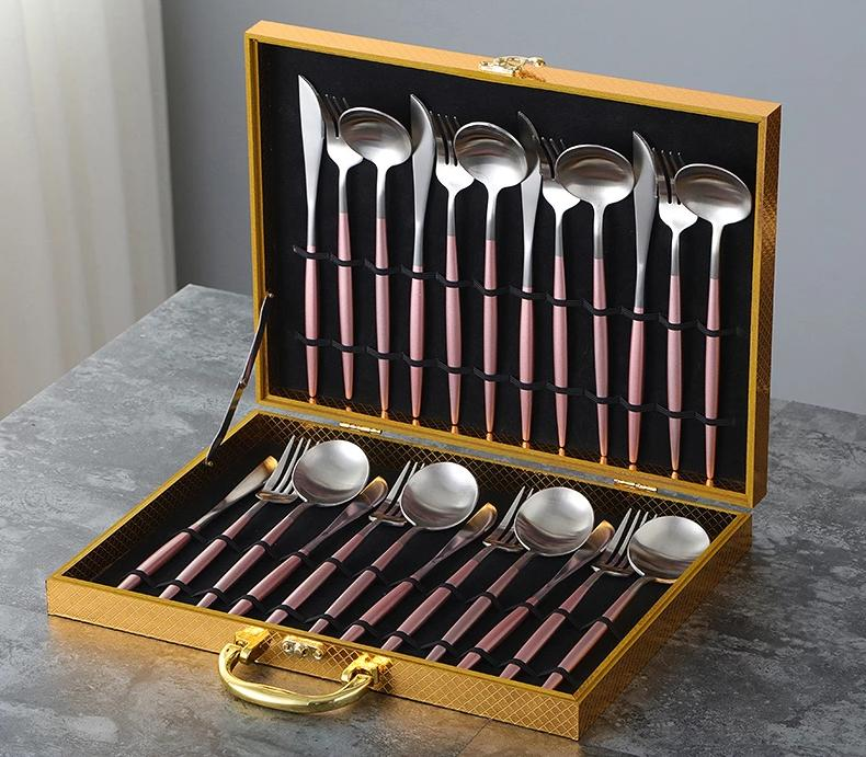 Lux Sentona Rose & Silver - Silverware Set - Wallencia Home Decor